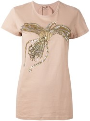 N 21 No21 Sequin Embellished T Shirt Pink Purple