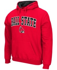 Colosseum Men's Ball State Cardinals Arch Logo Hoodie Red
