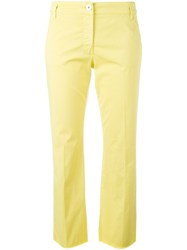 Dorothee Schumacher Bootcut Cropped Jeans Yellow Orange