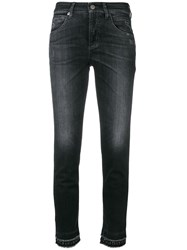Cambio Stud Detail Skinny Jeans Black