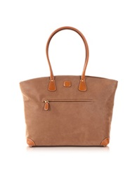 Bric's Life Large Camel Micro Suede Tote Bag