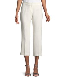 Lafayette 148 New York Manhattan Finesse Crepe Cropped Flare Pants Cloud