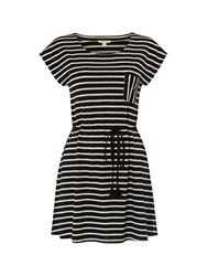 White Stuff Monochrome Stripe Jersey Tunic Black