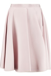 Giambattista Valli Pleated Wool And Silk Blend Skirt Pink