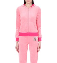 Juicy Couture Sequin Embellished Velour Jacket Guava