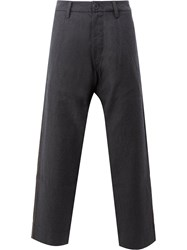 Ziggy Chen Tailored Trousers Men Cotton Cupro Wool 46 Blue