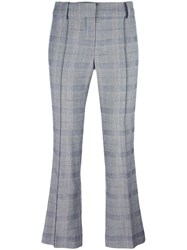 Cedric Charlier Checked Cropped Trousers