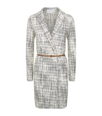 Fabiana Filippi Belted Tweed Coat Female Grey