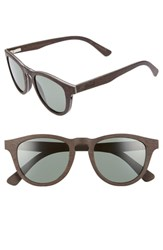 Shwood Francis 48Mm Polarized Wood Sunglasses Dark Walnut