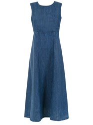 Osklen Flared Dress Blue