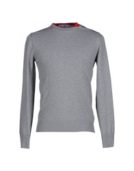 Bikkembergs Knitwear Jumpers Men Grey