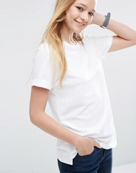 Asos Lightweight Knitted Loopback T Shirt White