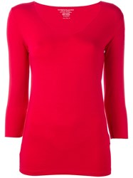 Majestic Filatures Fitted Top Red