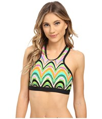 Trina Turk New Wave Sports Bra Multi Women's Bra