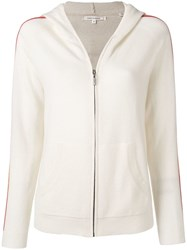 Chinti And Parker Zip Up Wool Hoodie Neutrals