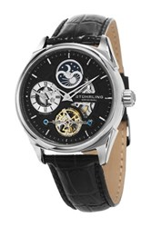 Stuhrling Men's Special Reserve 657 Leather Strap Watch Gray