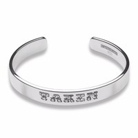 Cartergore Silver Medium Width Taken Bangle