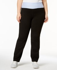 Ideology Plus Size Rapidry Open Leg Yoga Pants Lucien Blue
