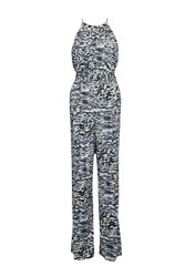Great Plains Sea Isle Printed Jumpsuit Blue