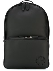 Giorgio Armani Logo Backpack Black