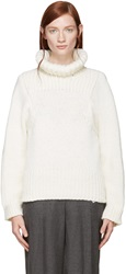 Stella Mccartney Cream Fisherman's Knit Turtleneck