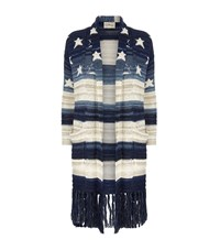 Denim And Supply Ralph Lauren Cotton Linen Fringed Cardigan Female Multi