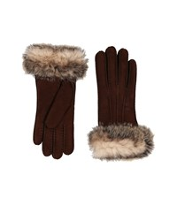 Ugg Three Point Glove W Toscana Trim Chocolate Multi Extreme Cold Weather Gloves Brown