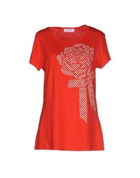 Clips More Topwear T Shirts Women Red