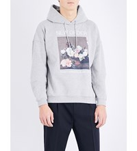 Sandro New Order Cotton Blend Hoody Grey