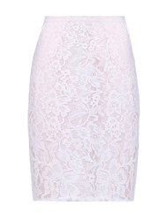 Yumi Lace Pencil Skirt Cream