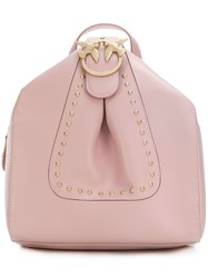 Pinko Studded Small Backpack Pink And Purple