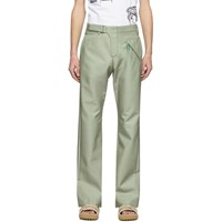 Off White Green Contour Tailored Trousers