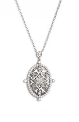 Freida Rothman Women's Contemporary Deco Celestial Pendant Necklace