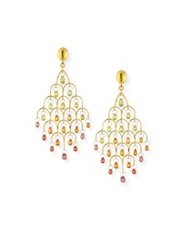 Gurhan Delicate Dew 22K Gold Chandelier Earrings