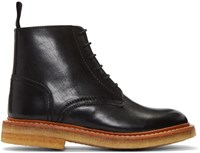 Ymc Black Crepe Sole Boots