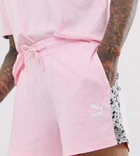 Puma Shorts With Snake Print Taping In Pink Exclusive At Asos