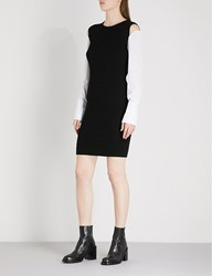 Moandco. Ribbed Knitted Dress Black