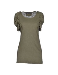 Peacock Blue T Shirts Military Green