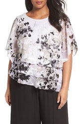 Alex Evenings Plus Size Women's Tiered Chiffon Top