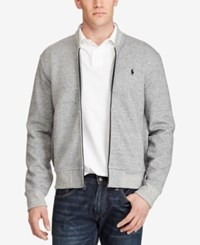 Polo Ralph Lauren Men's Big And Tall Double Knit Bomber Jacket Gray