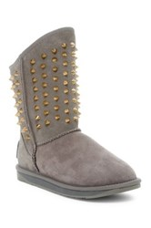 Australia Luxe Collective Pistol Short Studded Genuine Shearling Boot Gray