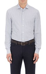 Ermenegildo Zegna Men's Striped Cotton Shirt Navy