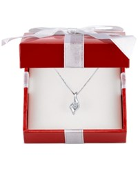 Sirena Diamond Twist Pendant Necklace 1 4 Ct. T.W. In 14K Gold White Or Rose Gold White Gold