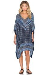 Parker Beach Playa Embellished Cover Up Blue