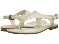 Frye Carson Seam T Off White Soft Vintage Leather Women's Sandals