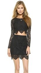 For Love And Lemons Midnight Crop Top Black