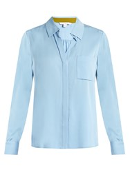 Diane Von Furstenberg Carter Shirt Light Blue