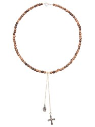 Catherine Michiels Charm Necklace Brown