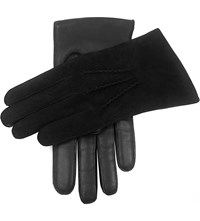 Dents Warwick Suede And Leather Gloves Black