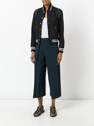 Rag And Bone Wide Leg Cropped Pants Women Polyester Triacetate 2 Blue